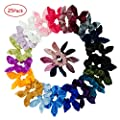 Simnice Hair Scrunchies Rabbit Bunny Ear Bow Bowknot Velvet Scrunchie Silk Large Satin Scrunchy Bobbles Elastic Hair Ties Bands Ponytail Holder