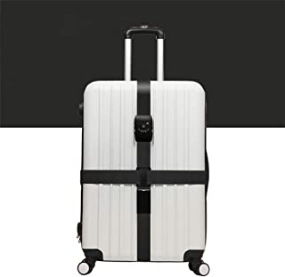 ZLQF Luggage Strap Cross Belt Packing Adjustable Travel Suitcase Band Suitcase with Travel accessorie Luggage Straps