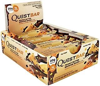 Quest Protein Bar Peanut Butter Brownie Smash. 12 bars クエスト プロテインバー ピーナツバター ブラウニー スマッシュ 12本入り [並行輸入品]