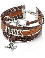 Biżuteria bransoletki jasna bransoletka, modne bransoletki i moda kobiety wielowarstwowa sztuczna skóra nieskończoność miłość koń amulet bransoletka biżuteria, bransoletki dla kobiet i mężczyzn