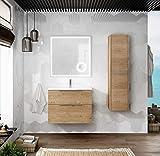 Mueble de Baño Suspendido con Lavabo Cerámico Galsaky | 2 cajones con Cierre Amortiguado y...