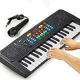 Teclado Eléctrico Piano 37-key, Teclado De Piano 37 Llave Eléctrica De Música Digital Teclado Portátil Instrumento Musical Electrónico Portátil Teclado Multifunción Con Micrófono Para Principiantes