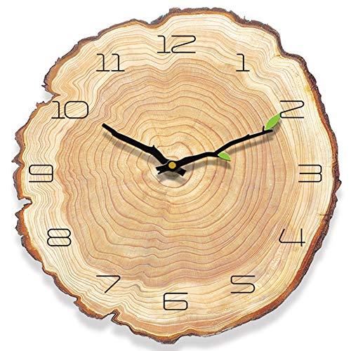 HyFanStr Wanduhr Vintage Holz, Antike Wanduhr Ohne TickgeräUsche, Uhr Vintage Wanduhr Landhausstil, Lautlose Wanduhr Shabby für Kienchen Wohnzimmer