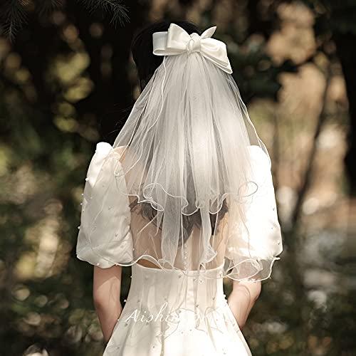 Xiaojie Cabeza de tarita, novia, principal boda foto accesorios retro mariposa blanca Sensen (color: blanco, tamaño: 60 cm 80 cm)