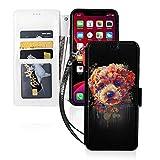 LINGF Coque de téléphone,Belle Coque colorée Caniche pour iPhone 11 Pro Max Coque Mignonne pour...