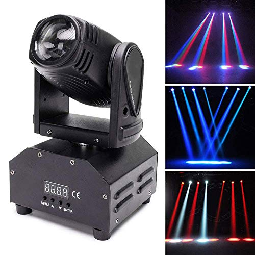 NARUJUBU Pattern Stage Light, Moving Head Stage Light RGBW (4 in 1)...