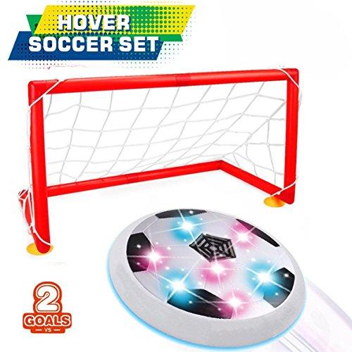 DMbaby Jouets pour 3-12 ans, Hover Ball Avec 2 Cadeaux Portes pour Garçons Filles Blanc WGDHB03