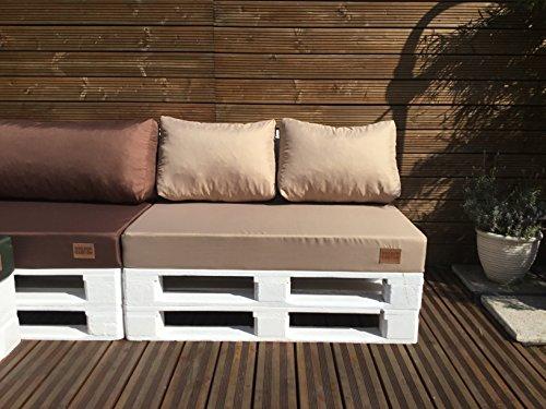 Mayaadi Home Palettenauflage passend für Europalletten Palettenpolster Paletten-Sitzsofa für Drinnen und Draußen MH-GD03 (Sitzkissen 120x80x15 cm Hellbraun)