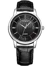 1f15326c9094 腕時計 メンズ 超薄型 9MM ククラッシー 本革製のブレスレット 日本製クォーツ