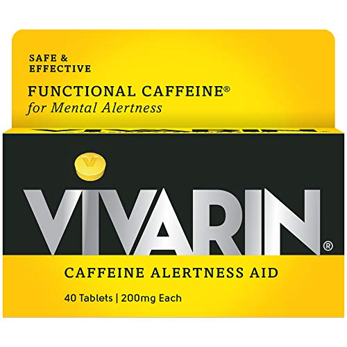 ALERTNESS AID: Vivarin Tablets work to bring you all the benefits of caffeine - more alertness, wakefulness and energy. Since it's small, you can take it with you anywhere. JUST CAFFEINE: Vivarin Tablets contain only one active ingredient: caffeine. ...