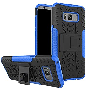 Samsung Galaxy S8 Plus Coque silicone, Coque Samsung Galaxy S8 Plus anti choc Etui, Nnopbeclik® Armor Séries 2 en 1 Dual Layer Rigide Backcover Incassable Housse Antiglisse Anti-Scratch Etui avec Béquille Coque pour Samsung Galaxy S8 Plus Accessoires, Hou