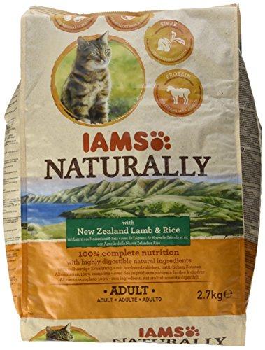 Iams Naturally Katze Lamm (Trockenfutter für erwachsene Katzen mit Lamm aus Neuseeland und Reis), 2700 g