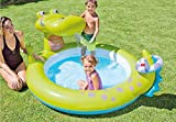XUDA Water Spray Pad Sprinkler Splash Pad Water Play Fun Crocodile Water Injection Toy Water Game Mat,Summer Water Spray Toy Garden Children Backyard Boy Children Girl