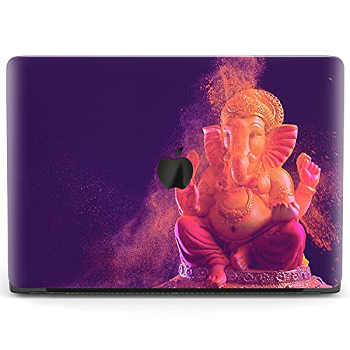 Mertak Hard Case Compatible with MacBook Pro 16 Air 13 inch Mac 15 Retina 12 11 2020 2019 2018 2017 Touch Bar Laptop Hindu Boho Clear Protective Statue Ganesha Indian Plastic Lord Cover Elephant
