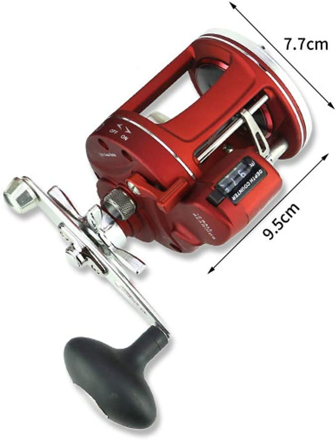 Fishing Reels Spinning Reel Metal Body with Counter Display and Large Capacity Metal Wire Cup 3.8:1 High Speed Gear Ratio