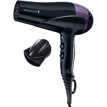 Remington D6090 Sèche Cheveux Ionique 2200W Color Protect, Soin Micromoléculaire Huile Karité Filtres UV, Protège Cheveux Colorés