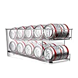 BingoHive Rolling Can Dispenser Beer Can Storage Soda Can Dispenser for Refrigerator Kitchen Cupboard 10 Standard Size 12oz Beer Soda Cans