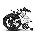 SAMEBIKE 20 Zoll Elektrofahrrad mit 350 W 48 V 10 Ah Lithiumbatterie Faltbares Elektrofahrrad E-Bike für Erwachsene (weiß) - 2
