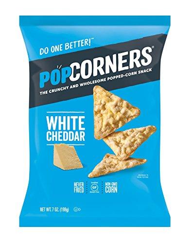 Popcorners White Cheddar Snack   Gluten Free Snack   (12 Pack, 7 oz Snack Bags), White Cheddar Feel-gunce Pack