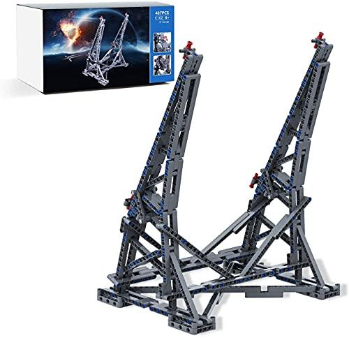 Soporte de Exhibición Vertical para Lego Star Wars 75192 Millennium Falcon, Soporte de Exhibición – 407 piezas (No Incluido el Modelo Lego)