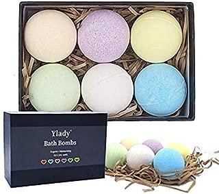Bath Bombs Gift Set Ylady 6 Pcs Bath Bombs Vegan Bath Bomb Essential Oils Perfect For Relaxation & Spa Bath Dry Skin Moisturization Best Gift Ideas For Women, Girlfriends, Bath Bomb Kit 6 Pieces
