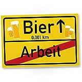 DankeDir! Bier - Arbeit Kunststoff Schild, Lustige Geschenkidee Geburtstagsgeschenk Bester Freund,...
