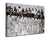 Desconocido Cuadro Lienzo Obreros sobre la viga en Manhattan – Varias Medidas - Lienzo de Tela Bastidor de Madera de 3 cm - Impresion en Alta resolucion (50, 33)