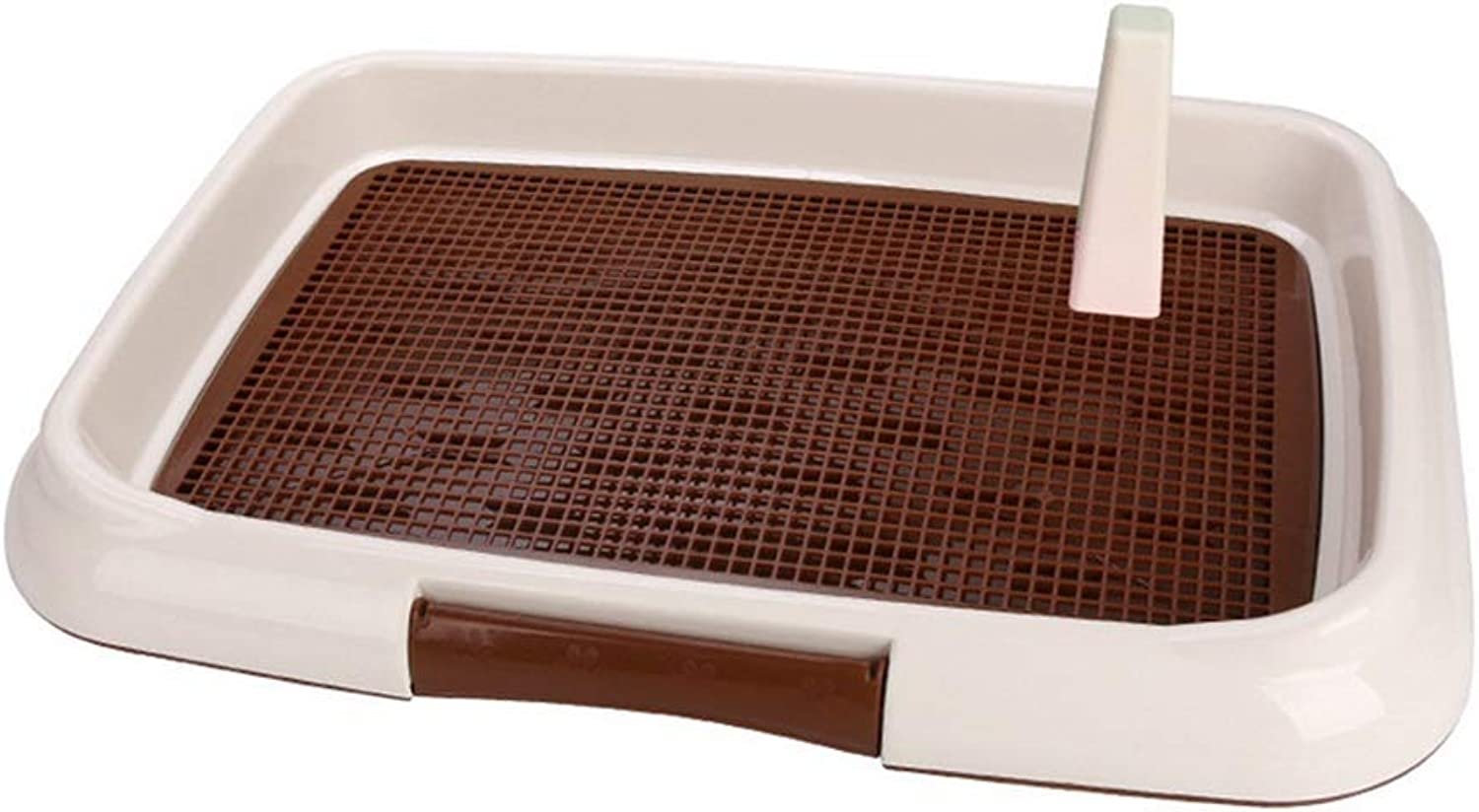 Ryan Dog Toilet, Indoor Training Suitable For Home Use Flat Toilet With Column Dog Urinal For Medium And Small Dogs Toilet(Brown, Pink, bluee) (color   BROWN, Size   L)