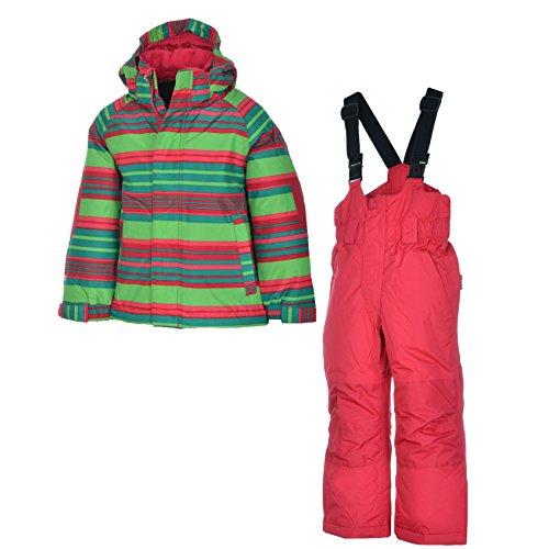 etirel Kinder Winter Schneeanzug Kids Habibi Overall Ski, Größe:104;Farbe:Multicol/Green/Red