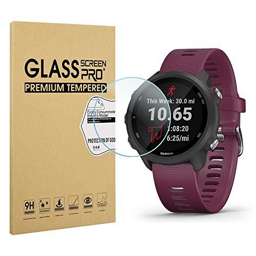 Diruite 3-Pack for Garmin Forerunner 245/245 Music Screen Protector, 2.5D 9H Hardness Tempered Glass Screen Protector for Garmin Forerunner 245/245 Music Smartwatch