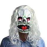 Fly Weißhaarige Gesichtsmaske Horror Halloween Tropfen Augenmaske Gruselige Perücke Latex Tanzshow Verkleiden Sich Requisiten Maske