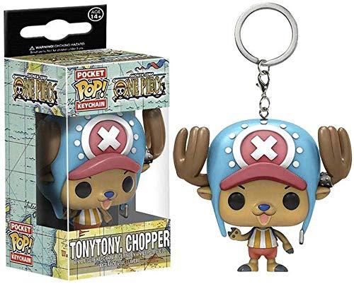 ZYBZGZ Figuras Pop One Piece Tony Tony Chopper Figuras con Llavero Coleccionable Hecho a Mano Juguetes de Dibujos Animados PVC Decoración del hogar para niños