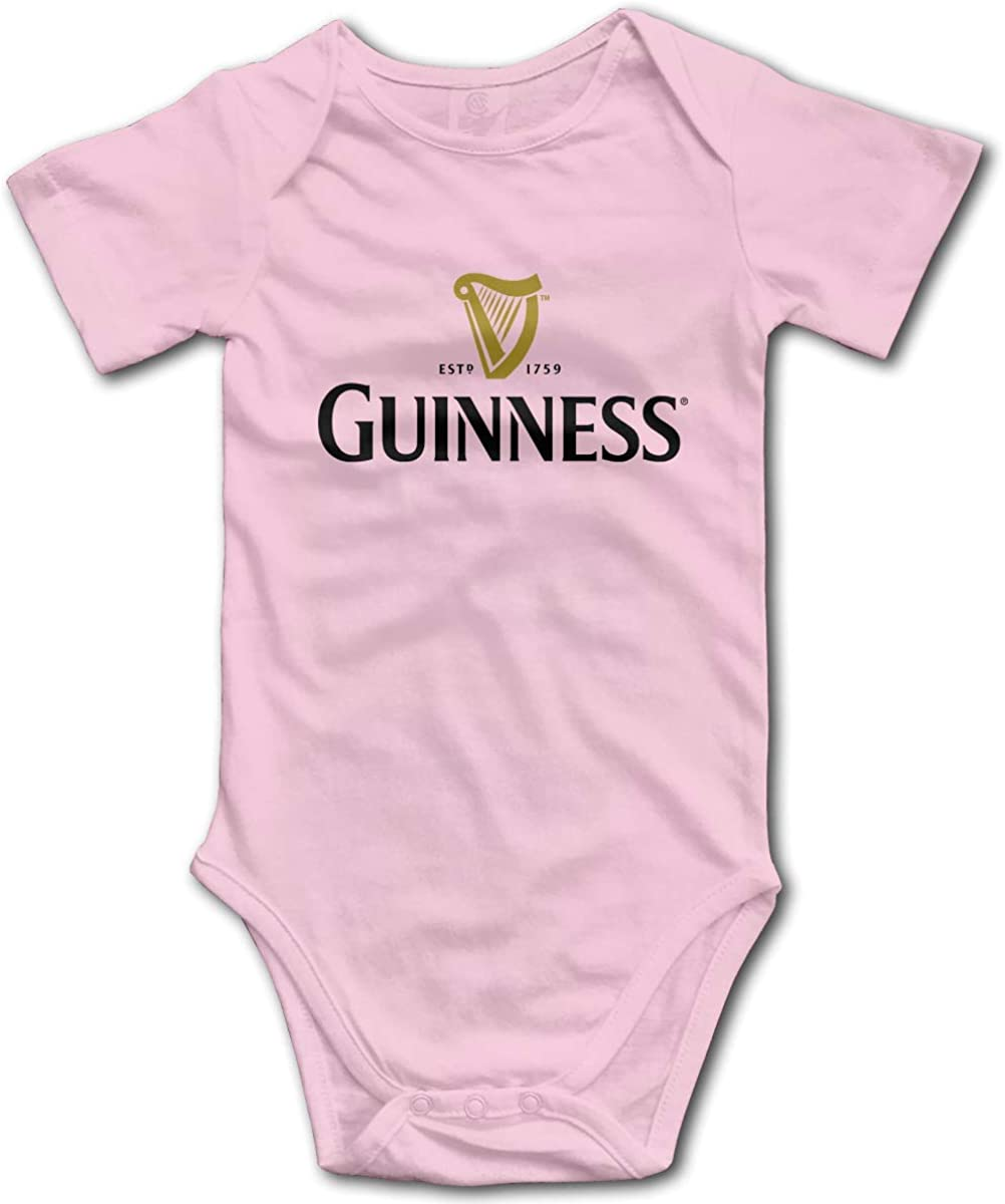 Irener Body per Neonato a Maniche Corte Baby Guinness Casual Short Sleeve Rompers Playsuits Boys And Girls