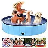 Aceshop 160 × 30cm Piscina Plegable para Perros Bañera Plegable de Mascotas Baño Portátil para Animales Piscina para Perros y Gatos Adecuado PVC Bañera para Perros para Interior Exterior al Aire