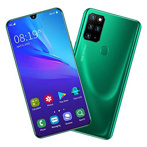 S20 Smartphone ohne Vertrag Günstig (7.5 Zoll) HD, 4800mAh, 8GB RAM 256GB ROM, Android 9.0, WLAN, Fingerabdruck, Face ID, Dual SIM Handy,Green