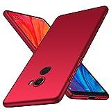 Xiaomi Mi Mix 2 Hülle, Almiao [Ultra-Thin] Minimalistische Slim Schutzhülle für Xiaomi Mi Mix 2 (Glattes Rot)