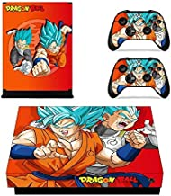 cocailoney Xbox One X Skin Set Vinyl Decal Skin Stickers Protective for Xbox One X Console Kinect 2 Controllers - SON GOKU