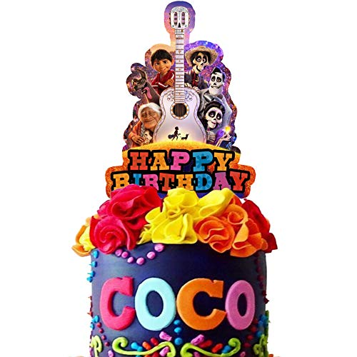 Coco Cake Topper Cupcake Toppers Birthday Decorations Party Supplies for Children, 1 count