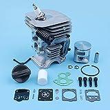 Haoyueda Kit de reparación de pistones de cilindro de 41 mm compatible con Husqvarna 435 435E 440 440E 440 II Motosierra Buffer Buffer Bolt Gas Pap de reemplazo Pieza