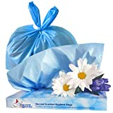 Heaven Scent Hygiene Bags, Discreet Waste Disposal for Adult Briefs and Feminine Products (Made in The USA), Mild Baby Powder Scent - Small, 50 Bags