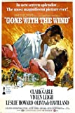 Vintage Oscar Gone With The Wind Film Poster Clark Gable