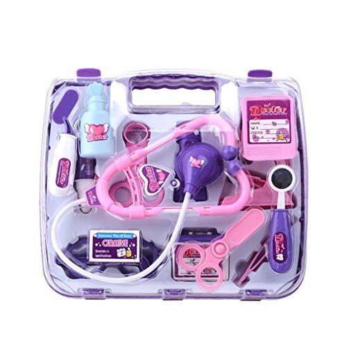 Barnläkare medicin kit medicinsk förnödenheter resväska läkare rekvisita leksaker färgglada