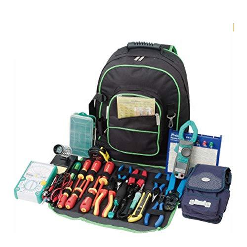 Mochila de herramientas Oxford 600D resistente, multibolsillos, bolsa de herramientas, almacenamiento y organizador perfecto para un contratista, electricista, plomero, HVAC HGJ1185