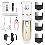 Bojafa Dog Grooming Clippers Kit Cordless Professional Low Noise Quiet...