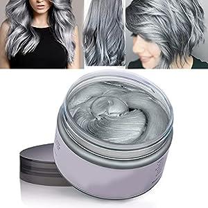 Color Cabello Cera Tinte Instantáneo para Cabello Lodo Cabello Desechable Crema para Peinado Natural Modelado Temporal Pomada Arcilla Gris