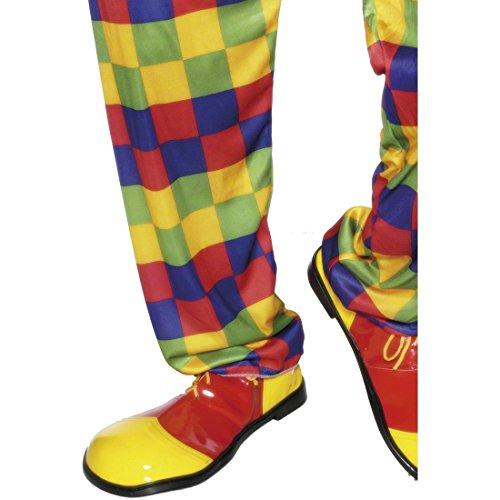 NET TOYS Chaussures Clown Rouge-Jaune - Chaussures de Clown - Chaussure des Clowns - Chaussures Clowns - Chaussures bouffones - Accessoires de Costume
