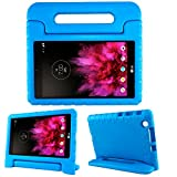 SIMPLEWAY LG G Pad X 8.0 Kids Case, Only Fit AT&T V520 / T-Mobile V521 Tablet, Carry Handle Child Stand Holder Shockproof Protective Cover Case Compatible with LG 8 Inch G Pad, Blue