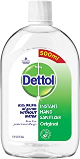 Dettol Original Germ Protection Alcohol based Hand Sanitizer Refill Bottle, 500ml