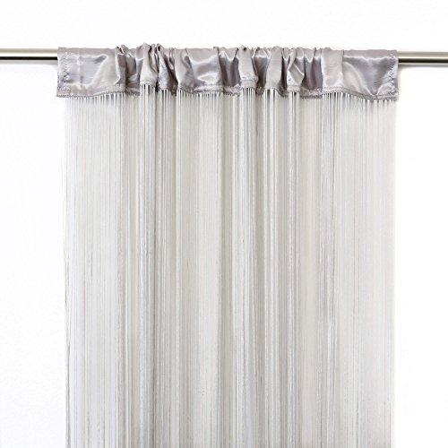 cortinas hilos gris