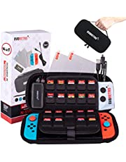 EVORETRO Switch case & Switch Accessories Starter Kit - 14 pcs for Nintendo Switch Games - Complete Bundle Set for Nintendo Switch Case Gaming Console